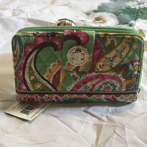 NWT Vera Bradley Large turnlock wallet